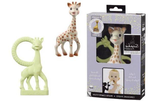 Coffret doudou et anneau de dentition so'pure sophie la girafe