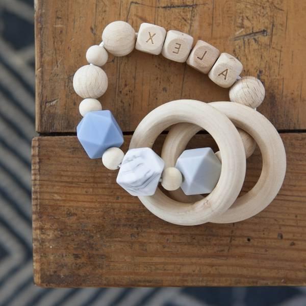 Anneau de dentition elephant au crochet