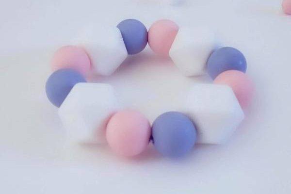 Anneaux de dentition silicone souple et transparent